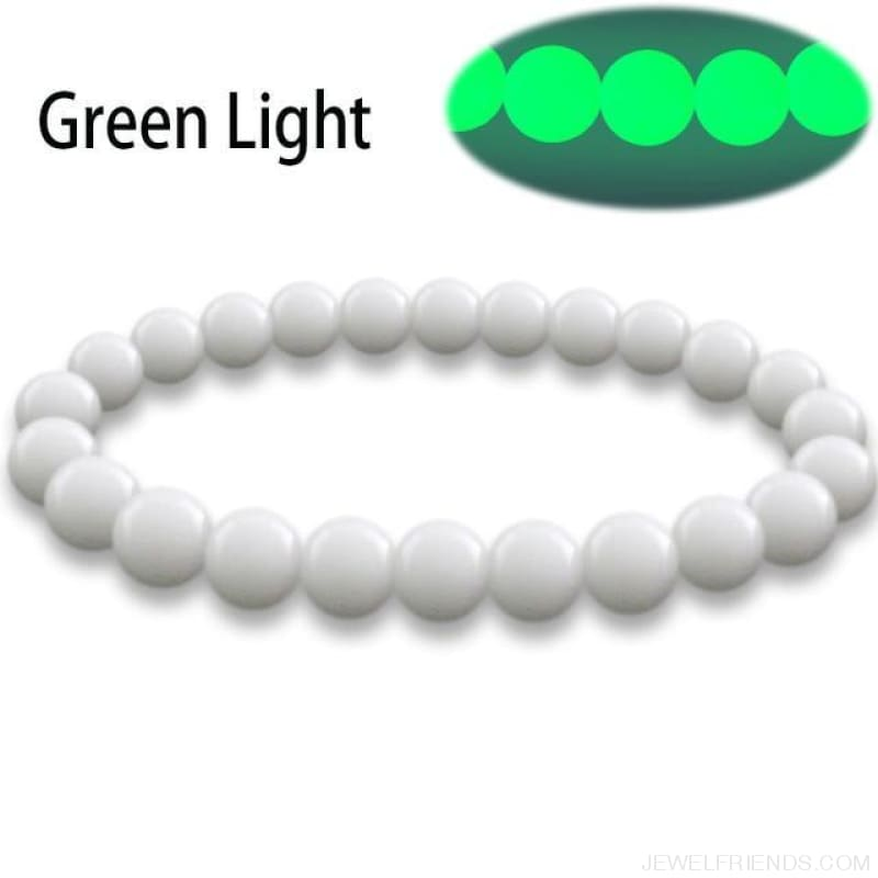 Natural Stone Beads Luminous Pearl Glow Light Bracelet - 1 / 16Cm - Custom Made | Free Shipping