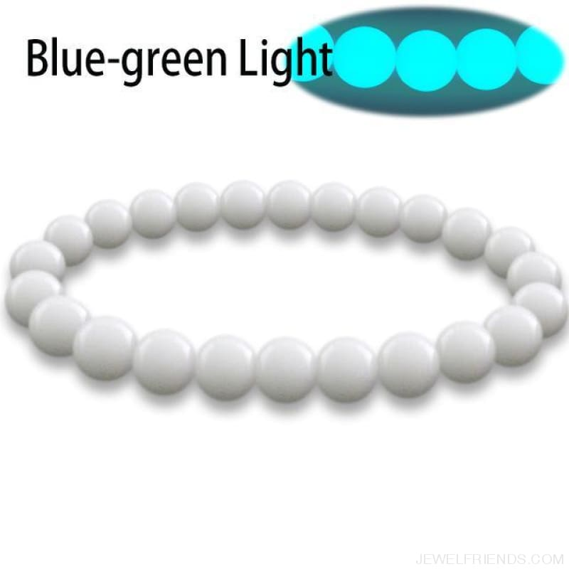 Natural Stone Beads Luminous Pearl Glow Light Bracelet - 2 / 16Cm - Custom Made | Free Shipping