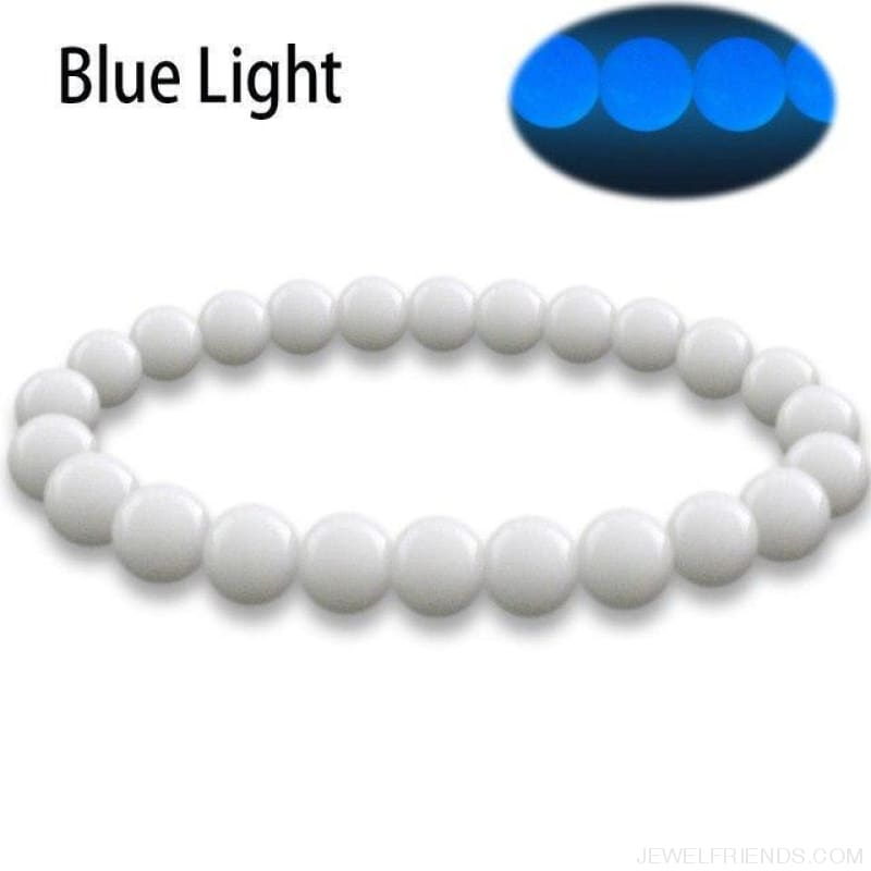 Natural Stone Beads Luminous Pearl Glow Light Bracelet - 3 / 16Cm - Custom Made | Free Shipping
