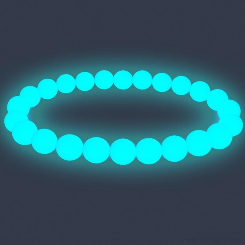 Natural Stone Beads Luminous Pearl Glow Light Bracelet - Custom Made | Free Shipping