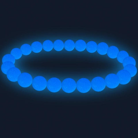 Image of Natural Stone Beads Luminous Pearl Glow Light Bracelet - Custom Made | Free Shipping