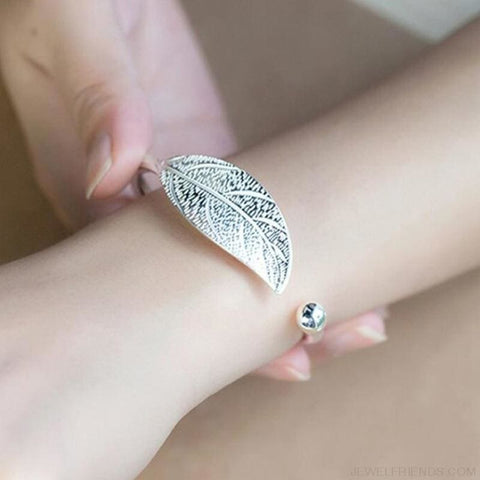 Image of Open Leaf Cuff Bracelet - Custom Made | Free Shipping