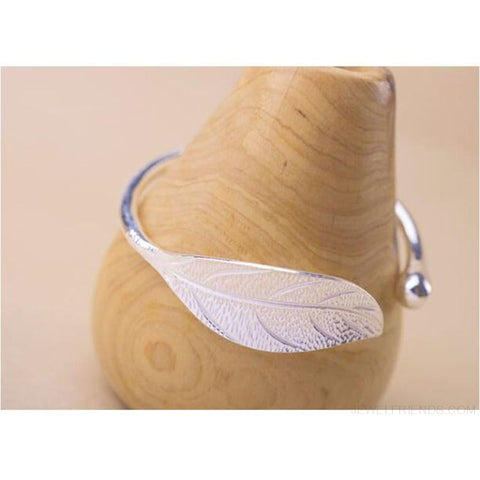 Open Leaf Cuff Bracelet - Custom Made | Free Shipping
