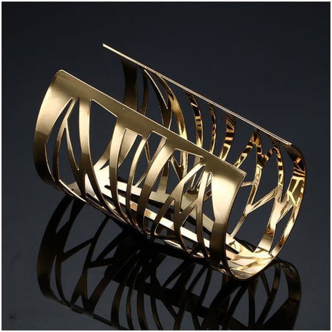 Opening Hollow Wide Cuff Bracelets - Custom Made | Free Shipping