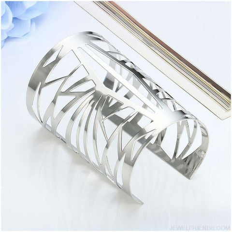 Image of Opening Hollow Wide Cuff Bracelets - Custom Made | Free Shipping