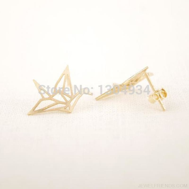 Origami Bird Stud Earrings - Custom Made | Free Shipping