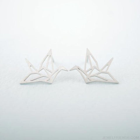 Image of Origami Bird Stud Earrings - Custom Made | Free Shipping