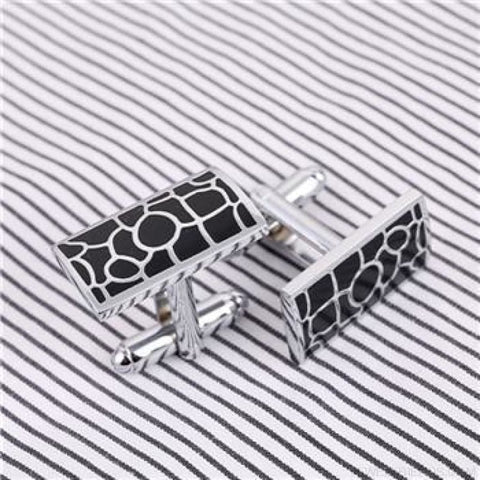 Image of Pattern Silver Cuff Links - Cf0021Aaa - Custom Made | Free Shipping