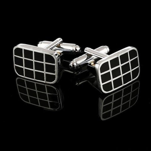 Image of Pattern Silver Cuff Links - Cf0022Aaa - Custom Made | Free Shipping