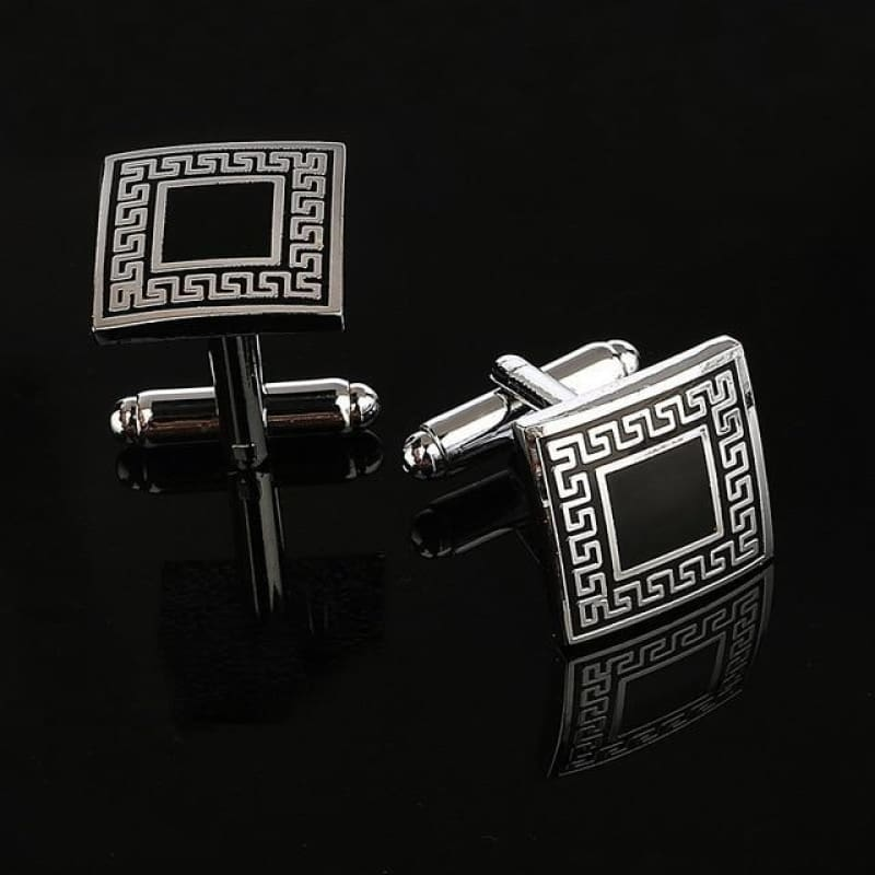 Pattern Silver Cuff Links - Cf0024Aaa - Custom Made | Free Shipping