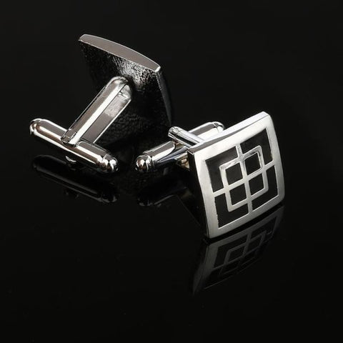 Image of Pattern Silver Cuff Links - Cf0025Aaa - Custom Made | Free Shipping