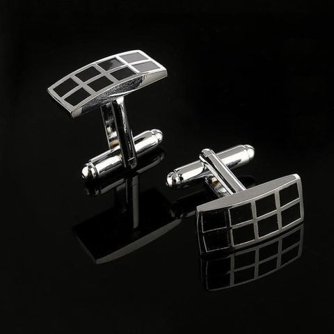 Image of Pattern Silver Cuff Links - Cf0026Aaa - Custom Made | Free Shipping