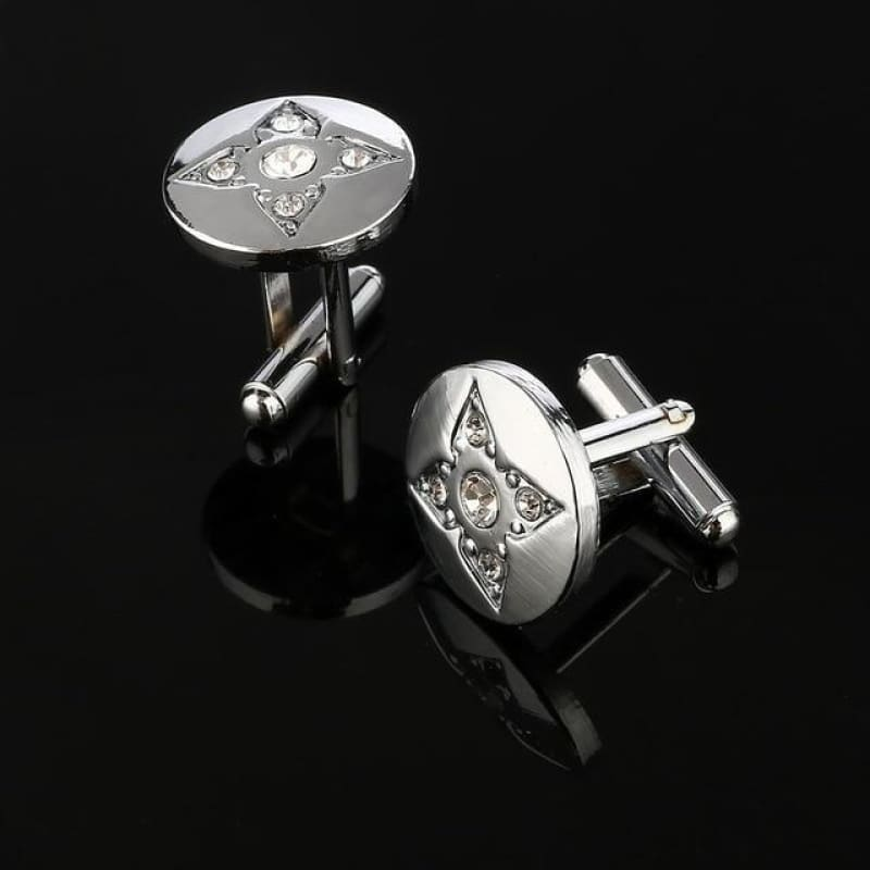 Pattern Silver Cuff Links - Cf0028Aaa - Custom Made | Free Shipping