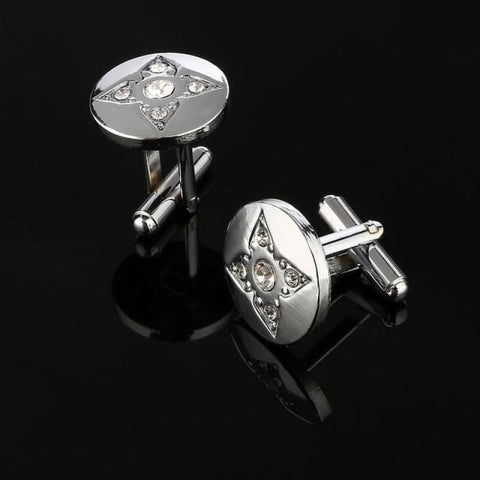 Image of Pattern Silver Cuff Links - Cf0028Aaa - Custom Made | Free Shipping