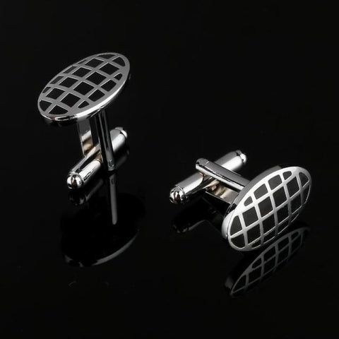 Image of Pattern Silver Cuff Links - Cf0029Aaa - Custom Made | Free Shipping