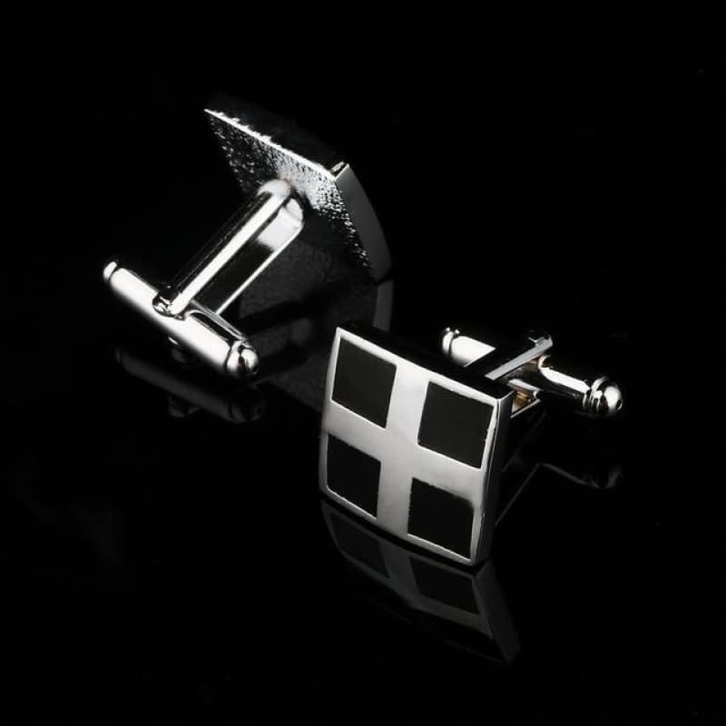 Pattern Silver Cuff Links - Cf0030Aaa - Custom Made | Free Shipping