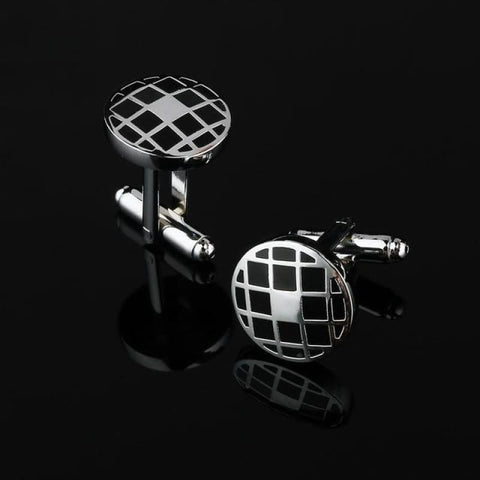 Image of Pattern Silver Cuff Links - Cf0033Aaa - Custom Made | Free Shipping
