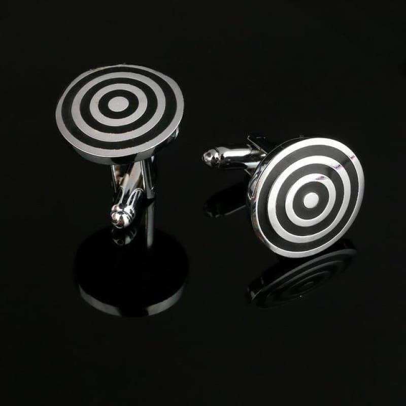 Pattern Silver Cuff Links - Cf0034Aaa - Custom Made | Free Shipping