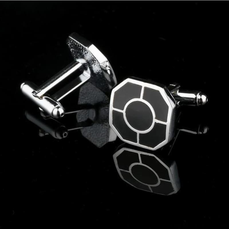 Pattern Silver Cuff Links - Cf0035Aaa - Custom Made | Free Shipping