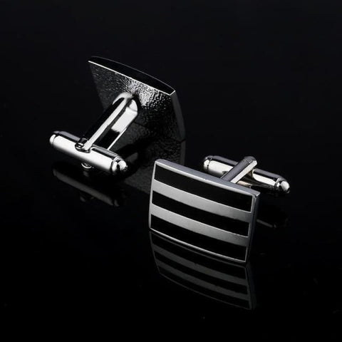 Image of Pattern Silver Cuff Links - Cf0038Aaa - Custom Made | Free Shipping