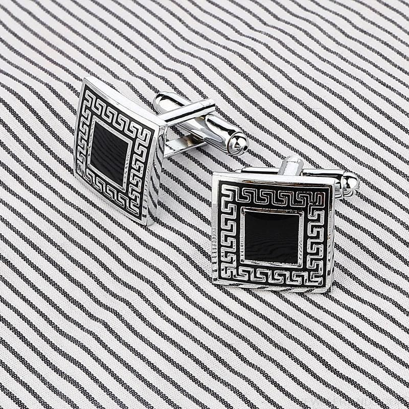 Pattern Silver Cuff Links - Custom Made | Free Shipping