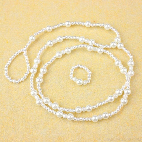 Image of Pearl Barefoot Sandal Anklet Chain - Custom Made | Free Shipping