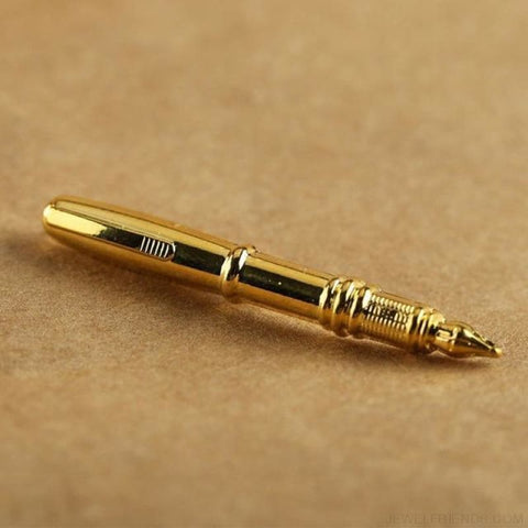 Image of Pen Shape Tie Clip - Gold - Custom Made | Free Shipping