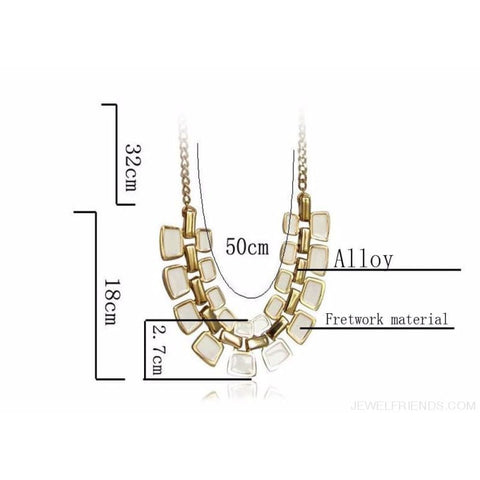 Pendants Link Chain Collar Long Plated Enamel Statement Bling & Fashion Necklace - Custom Made | Free Shipping
