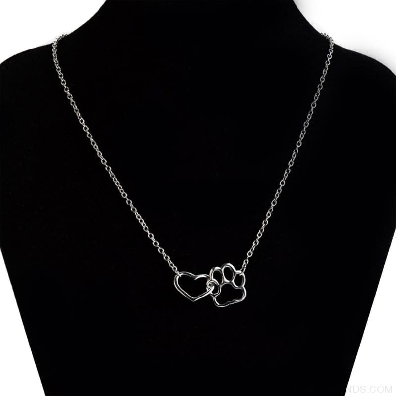 Pet Paw Footprint & Heart Necklaces - Custom Made | Free Shipping