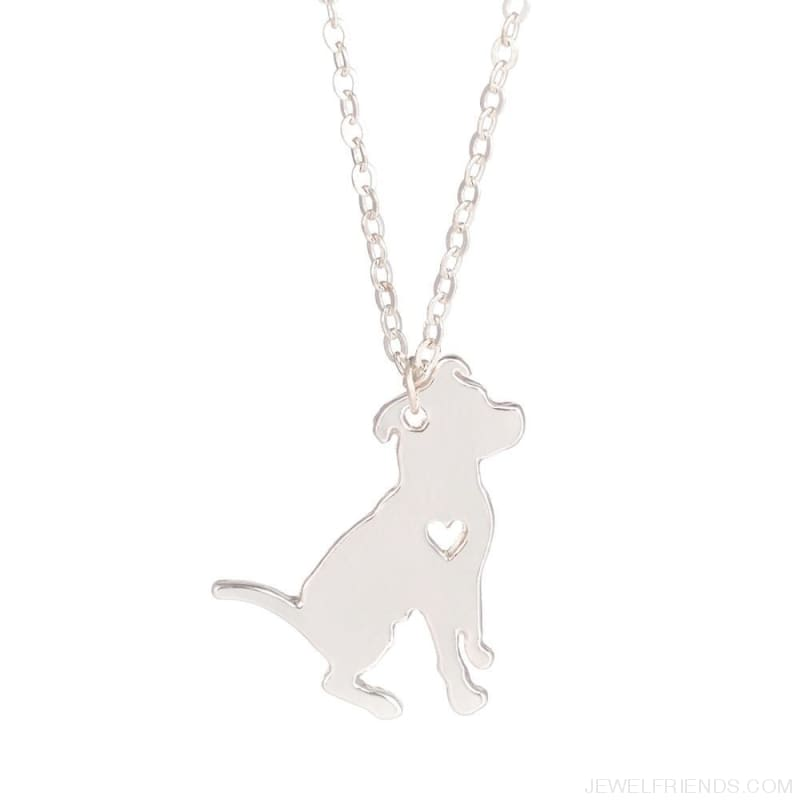 Pit Bull Silhoutte Dog Breed Necklace - Custom Made | Free Shipping
