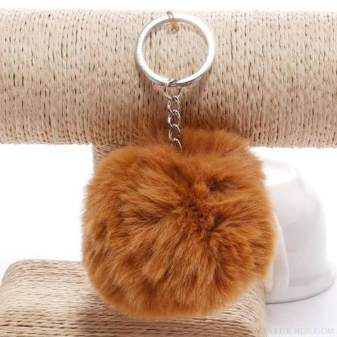 Image of Pompom Imitation Fur Ball - Brown - Custom Made | Free Shipping