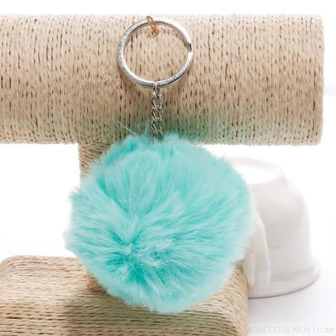 Image of Pompom Imitation Fur Ball - Green - Custom Made | Free Shipping