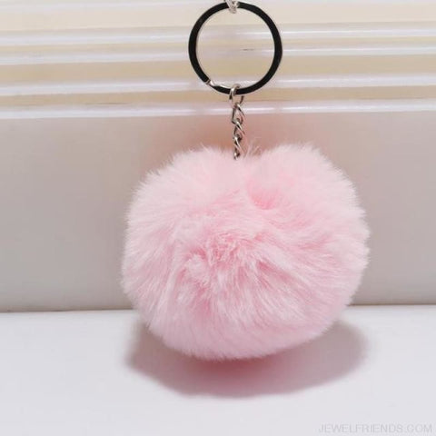 Image of Pompom Imitation Fur Ball - Light Pink - Custom Made | Free Shipping