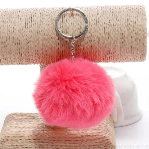 Image of Pompom Imitation Fur Ball - Pink - Custom Made | Free Shipping