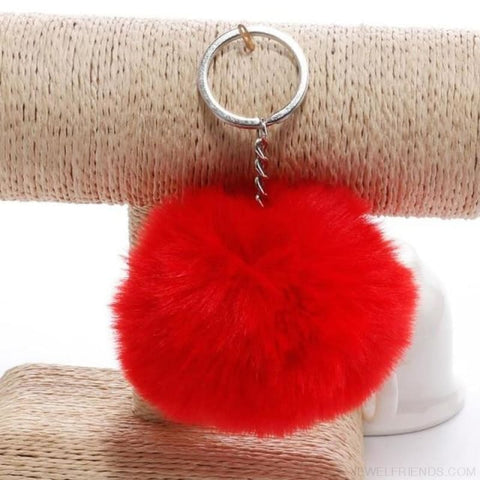 Image of Pompom Imitation Fur Ball - Red - Custom Made | Free Shipping