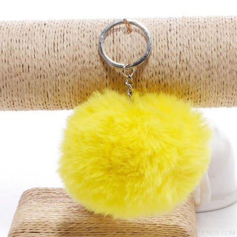 Image of Pompom Imitation Fur Ball - Yellow - Custom Made | Free Shipping