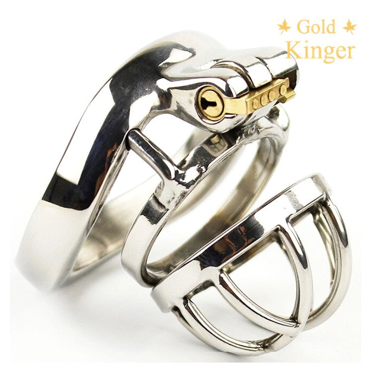 Chaste Bird Male Stainless Steel Cock Cage with Barbed Anti-off Ring Chastity Device Ring with Stealth New Lock NOFAP Toy