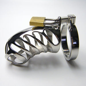 Stainless Steel Chastity Cage Bird Bondage Penis Lock Male Chastity Device Cock Ring Adult NOFAP Toy For Men