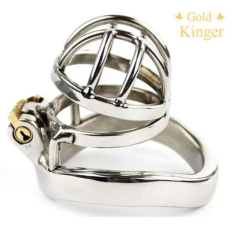Image of Chaste Bird Male Stainless Steel Cock Cage with Barbed Anti-off Ring Chastity Device Ring with Stealth New Lock NOFAP Toy