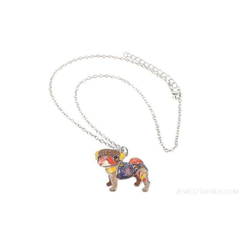 Pug Colorful Pattern Dog Necklace - Custom Made | Free Shipping