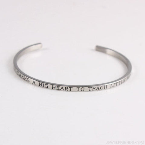 Quotes Mantra Bracelets 316L Stainless Steel Cuff Bracelet - Custom Made | Free Shipping