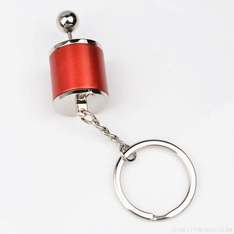 Race Car Stalls Head Keychains Six-Speed Manual Shift - Red - Custom Made | Free Shipping