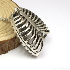 Ribcage Ribs Anatomical Pendant Necklace