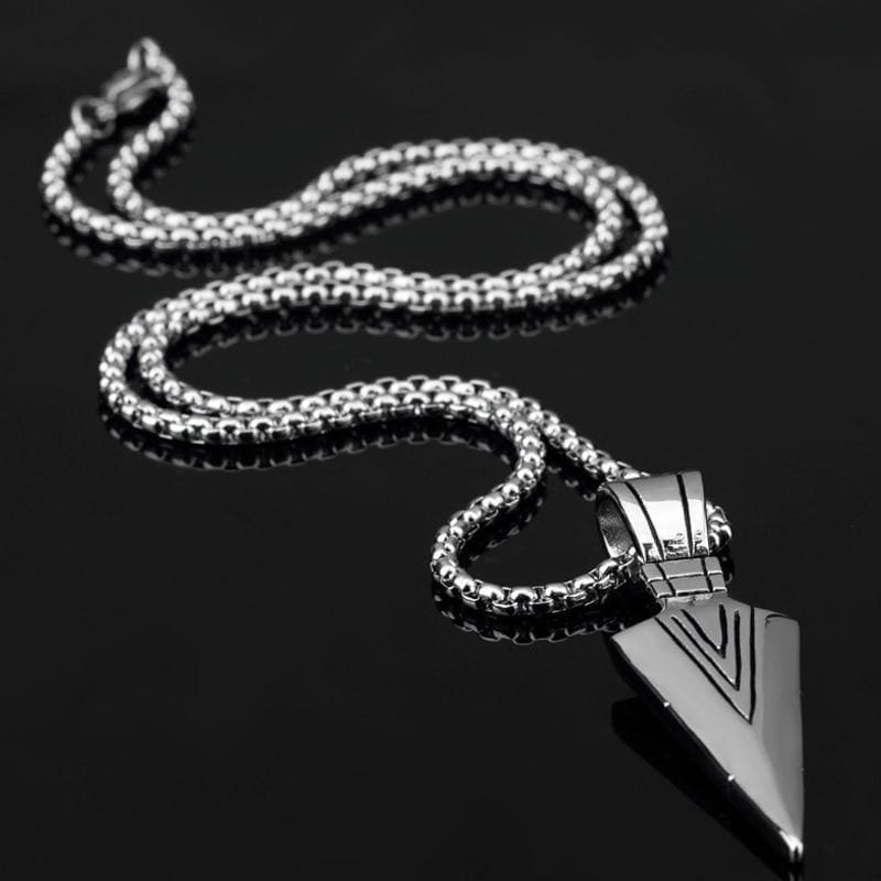 Rock Arrow Long Chain Pendant Necklaces - Custom Made | Free Shipping