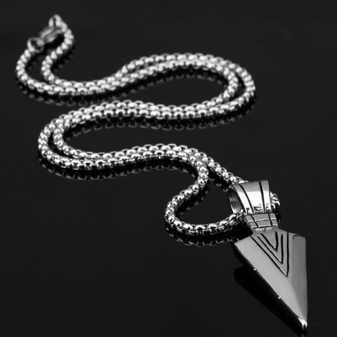 Image of Rock Arrow Long Chain Pendant Necklaces - Custom Made | Free Shipping