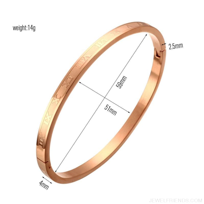 Roman Number Bangle Bracelets - Custom Made | Free Shipping