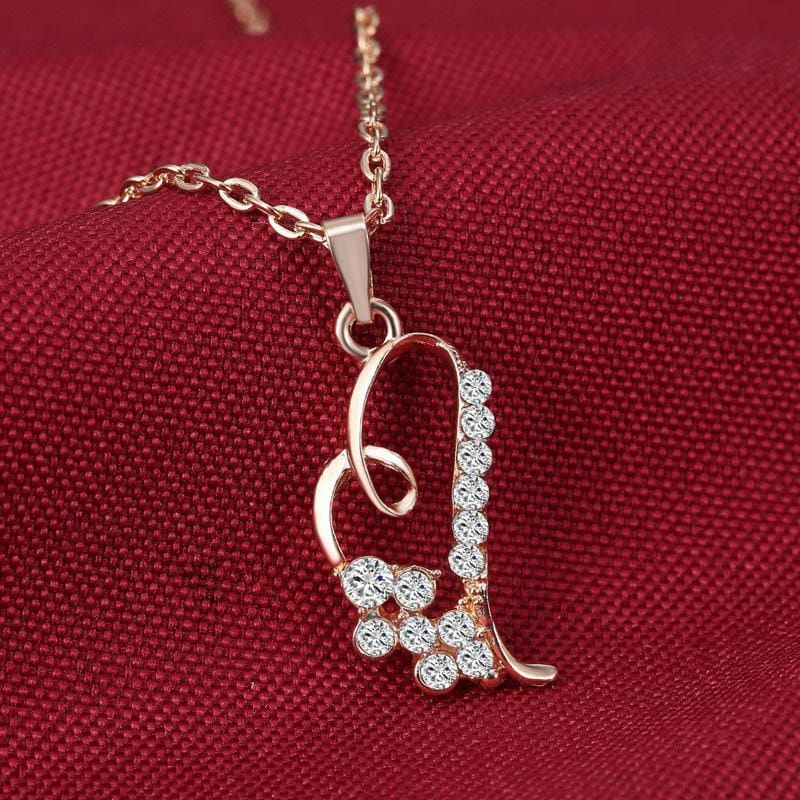 Romantic Heart Pendant Jewelry Set - Custom Made | Free Shipping