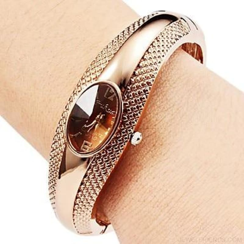 Rose Gold Bangle Bracelet Watches - 1 / China - Custom Made | Free Shipping