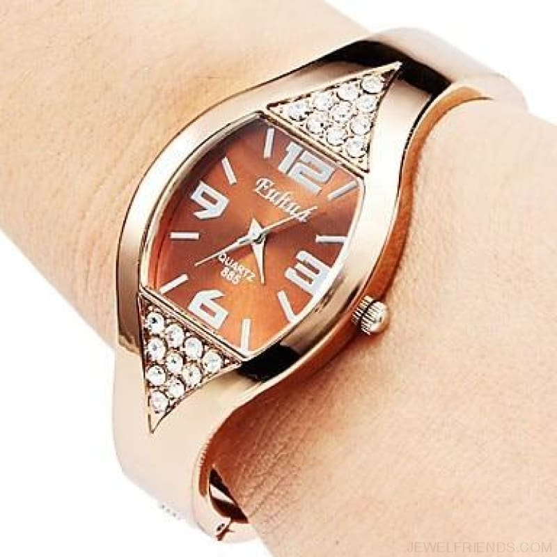 Rose Gold Bangle Bracelet Watches - 2 / China - Custom Made | Free Shipping