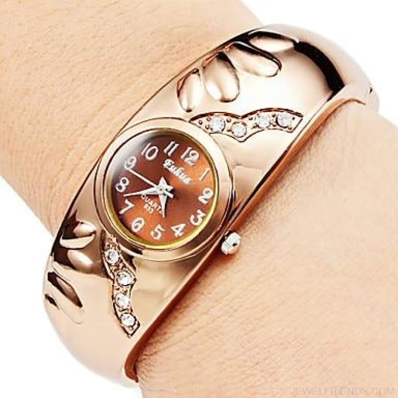 Rose Gold Bangle Bracelet Watches - 3 / China - Custom Made | Free Shipping